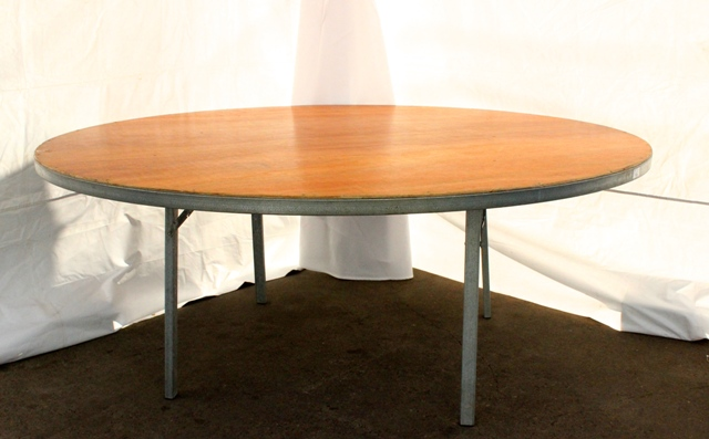 1800mm round, timber top (seats 10)