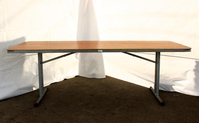 2.1m rectangular, timber top (seats 8 - 10)