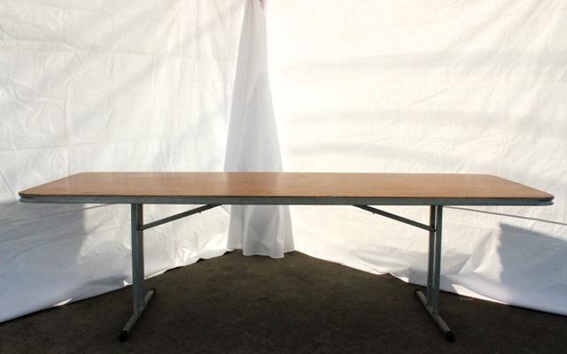 2.4m rectangular, timber top (seats 8 - 10)