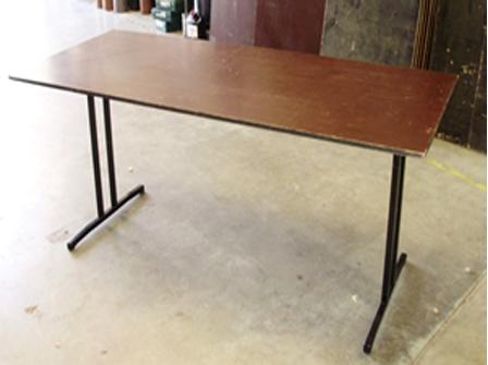 1.8m rectangular, timber top (seats 6 - 8)