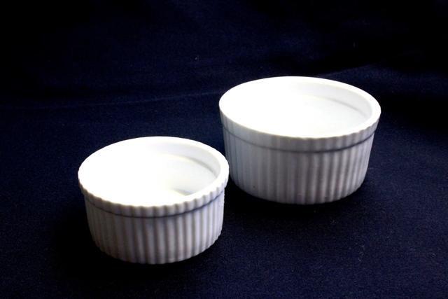 Ramekins / Soufflé dish - 80mm x 30mm & 90mm x 48mm