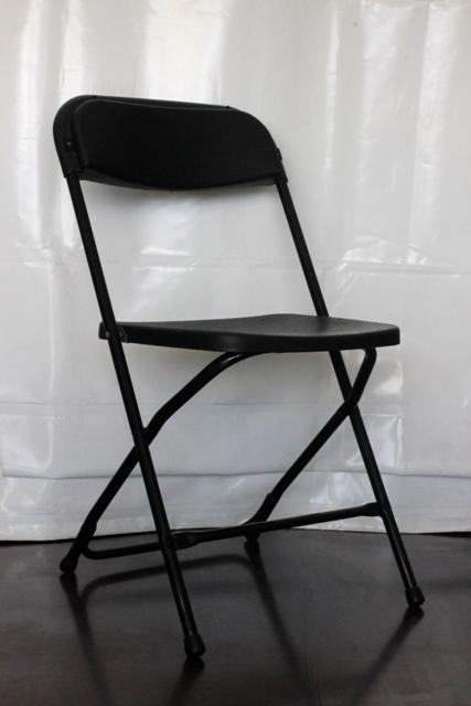Black flat folding chair