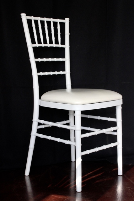 White Tiffany wedding chair, padded