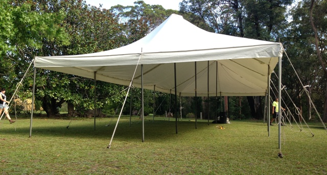 6m x 15m peg and pole marquee