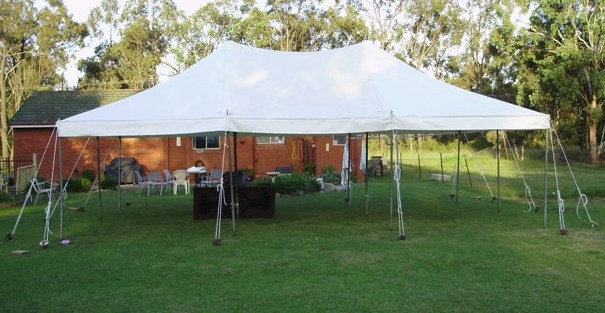 6m x 9m peg and pole marquee