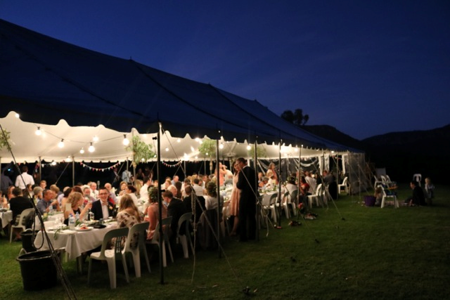 9x22.5m peg and pole marquee