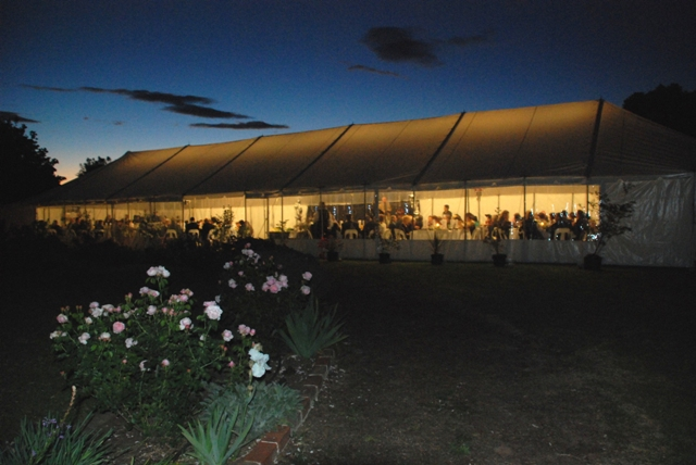 9x31.5m peg and pole marquee