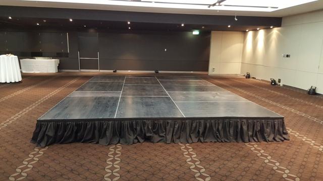 Quattro premium indoor staging at Panthers Entertainment