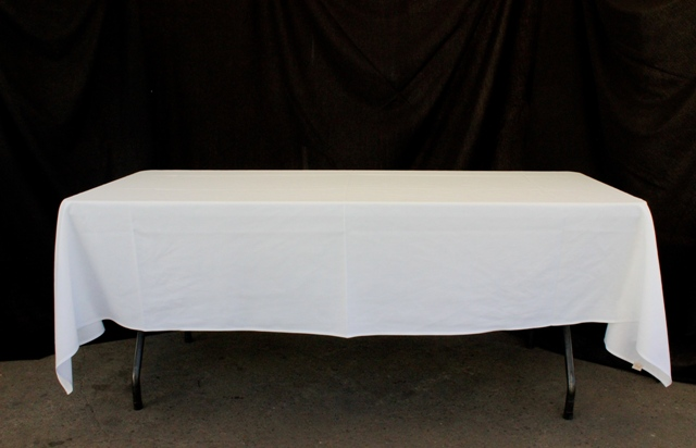 Rectangle, white - to suit up to 2.4m table