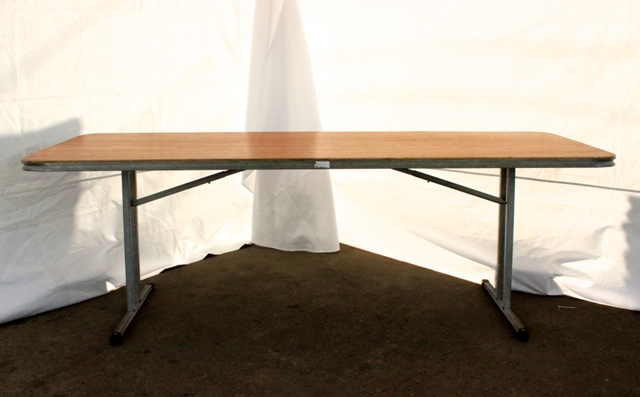 2.1m rectangular, timber top (seats 8 - 10)