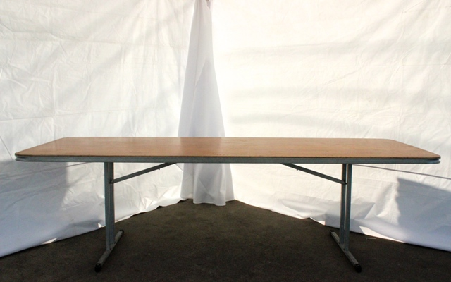 2.4m rectangular, timber top (seats 8 - 10)