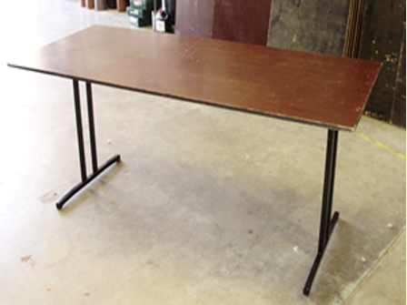 1.8m rectangular, timber top (seats 6 - 8)
