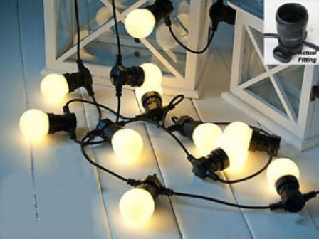 Festoon lights, clear globes