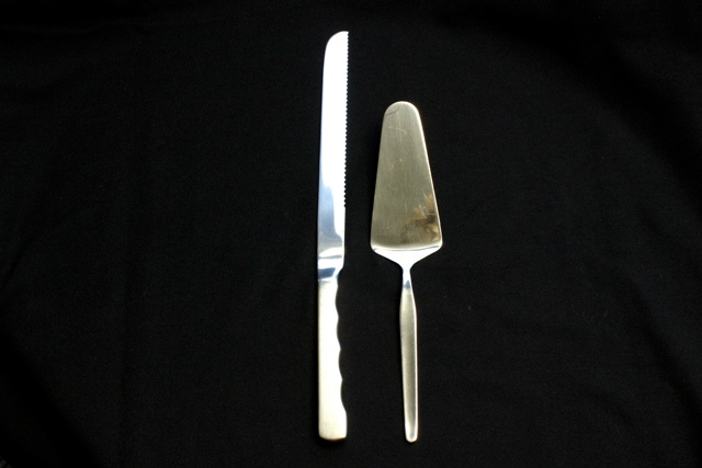 Cake knife - 340mm & Cake server - 260mm - stainless steel