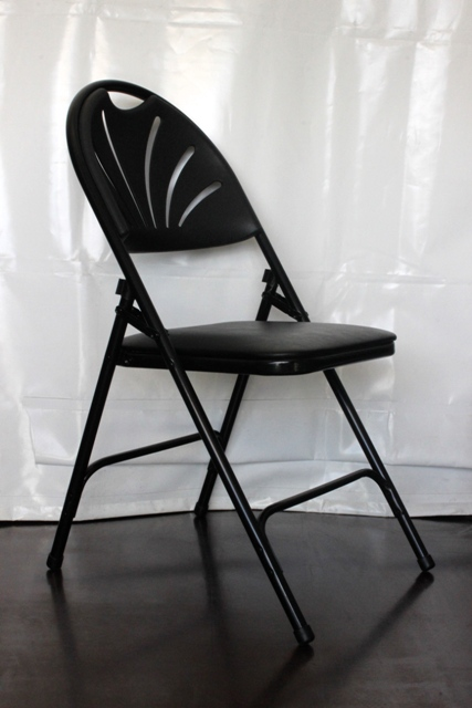 Black comfort chairs, padded seat, black frame