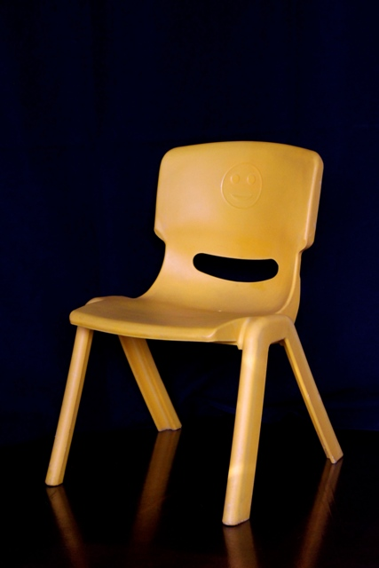Kindy chair - yellow plastic