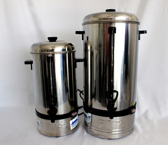 Small and large Coffee percolators