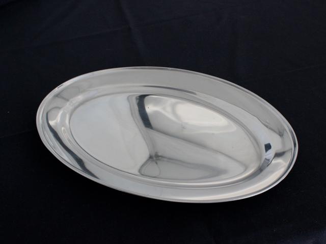 S/Steel platters, oval - 40cm