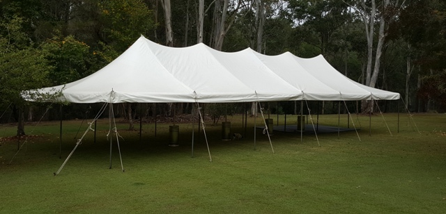 6x18m peg and pole marquee