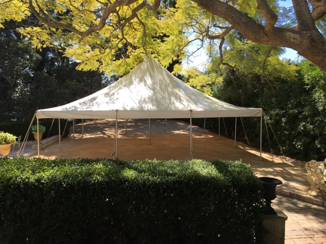9m x 9m peg and pole marquee