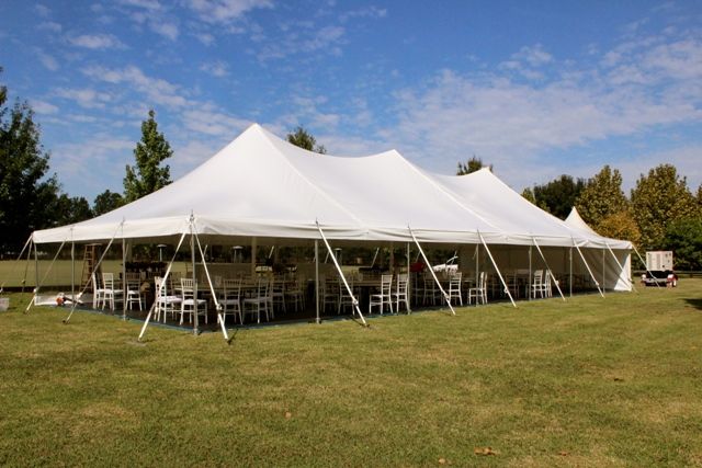 9m x 21m peg and pole marquee