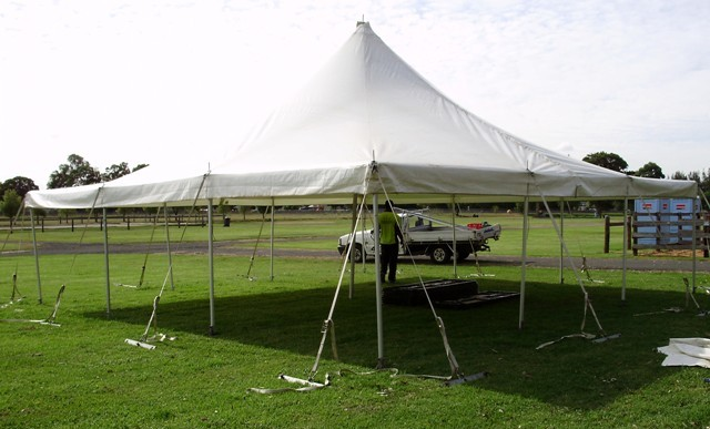 9x9m peg and pole marquee