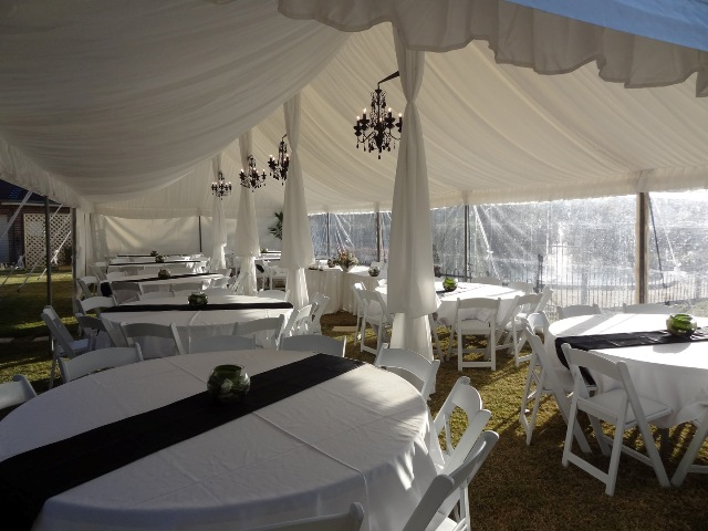 9m x 15m peg and pole marquee