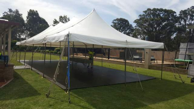 6m x 12m peg and pole marquee