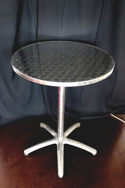 Cake / Cafe table, s/steel, 60cm diameter x 78cm high