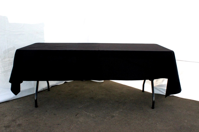 Rectangle, black - to suit up to 2.4m table