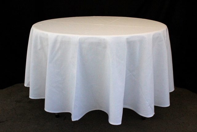 Round, white - to suit up to 1150mm table