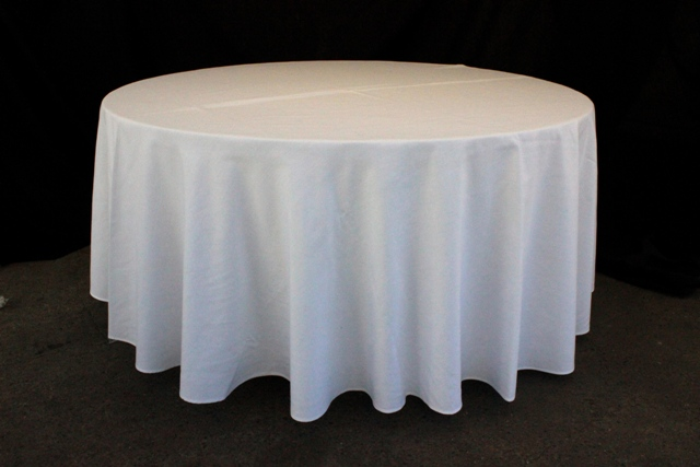 Round, white - to suit up to 1800mm table