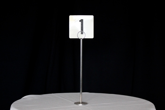 Table number stands, 30cm
