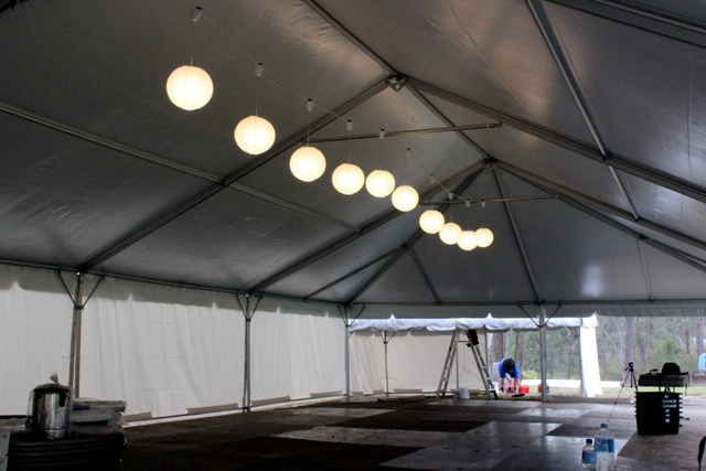 rice paper lanterns inside 10x20m free standing marquee