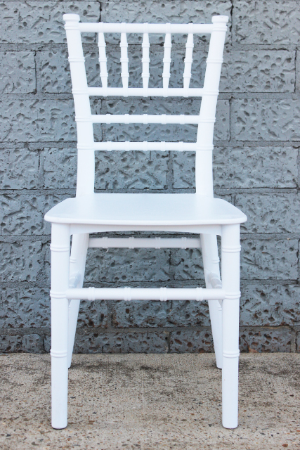 Kindy Tiffany chair – white plastic