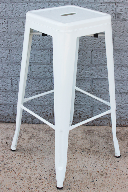 Tolix bar stool - white